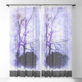 Nature And Mankind Sheer Curtain