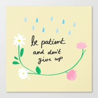 motivational Canvas Prints featuring Motivational thoughts by Saskdraws