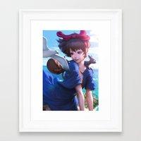 artgerm Framed Art Prints featuring Airmail  by Artgerm™