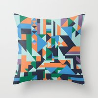 hunter Throw Pillows featuring Hunter by La Señora