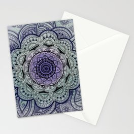 Mandala Violet Stationery Cards