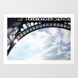 61. Madame Eiffel, Paris Art Print