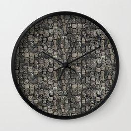 Ancient Stone Wall Pattern Wall Clock