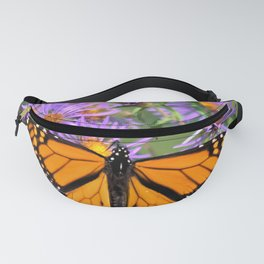 Monarch Butterfly on Wild Asters (square) Fanny Pack