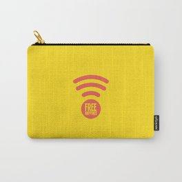 Free Happiness Square Yellow  Carry-All Pouch