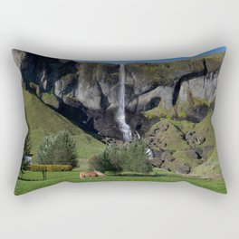 Horse in Iceland Rectangular Pillow