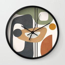 Modern Abstract Shapes 12 Wall Clock