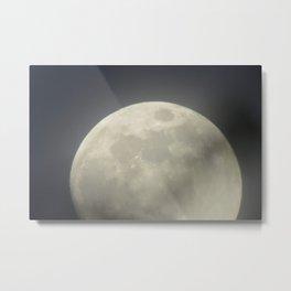 The Moon #4. Full moon shinning in the sky. Metal Print