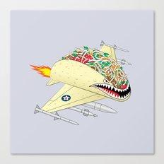 Taco Fighter Jet Canvas Print