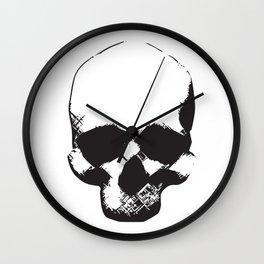 Groovy Skull - BLACK Wall Clock