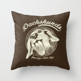 Sausage With Legs Throw Pillow