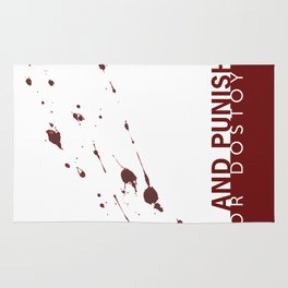 the classics .. blood splatter Rug