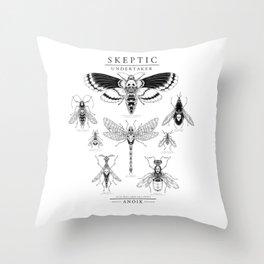 ANOIK Skeptic on Undertaker Throw Pillow