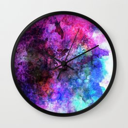 Purple Watercolor Wall Clock