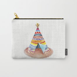 Tepee watercolor Carry-All Pouch