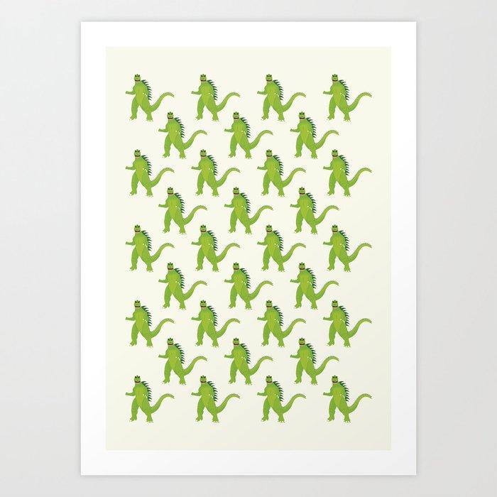 Godzilla pattern Art Print