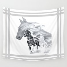Trotting Up A Storm Wall Tapestry
