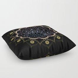 Contrast mandala Floor Pillow