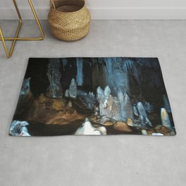 Watercolor Rock, Lechuguilla Cave 07, New Mexico, Pearlsian Majesty Rug