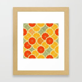 Summer Citrus Slices Framed Art Print