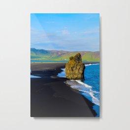 reynisfjara beach Metal Print