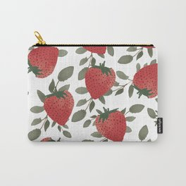Tropical Strawberries Carry-All Pouch
