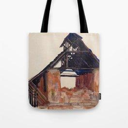 "Egon Schiele ""Old Gable"" Tote Bag"