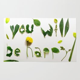 "Visual Proposal by Ethan Park ""You will be happy"" Rug"
