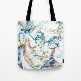 LE CORBUSIER - watercolor portrait Tote Bag
