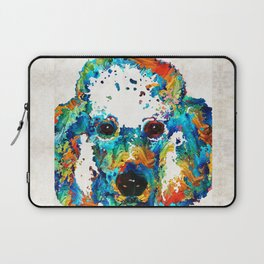 Colorful Poodle Dog Art by Sharon Cummings Laptop Sleeve