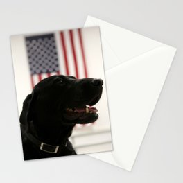 All-American Black Labrador Stationery Cards