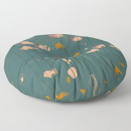 A Field Of Flowers Bloom Floor Pillow