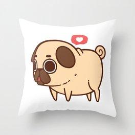 Puglie Heart Throw Pillow