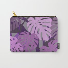 big Monstera leaves violet color Carry-All Pouch