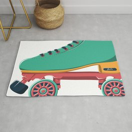 old school roller skate Rug