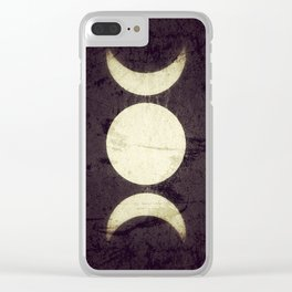 Triple Moon Goddess Clear iPhone Case