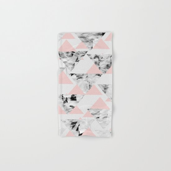 Pink Triangles Hand & Bath Towel