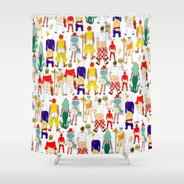 Fast Food Butts V2 Shower Curtain