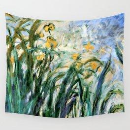 """Claude Monet """"Yellow Irises and Malva"""", 1914 - 1917 Wall Tapestry"""