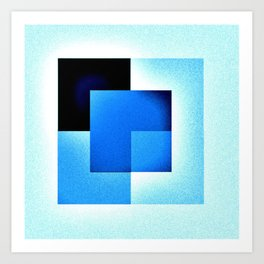Blue On Blue Art Print