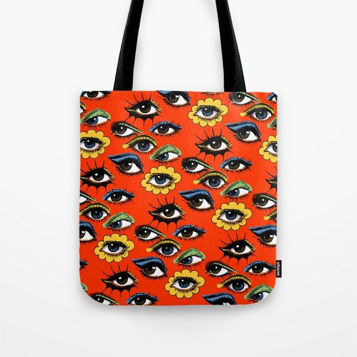 60s Eye Pattern Tote Bag