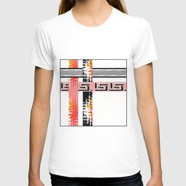 Vintage .Art . Intertwining colored bands . T-shirt
