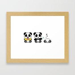 Three Little Pandas Framed Art Print