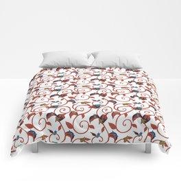 White Bug Swirl Comforters