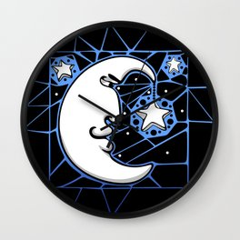 Moon and Stars Trellis Wall Clock