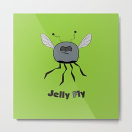 Jelly Fly Metal Print