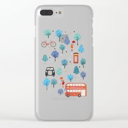 London Christmas Clear iPhone Case