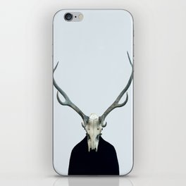 Living Skull and Horns iPhone Skin
