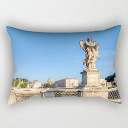 Angel with the Crown of Thorns at the Sant'Angelo bridge - Rome, Italy Rectangular Pillow