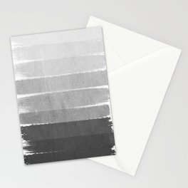 Brushstroke - Ombre Grey, Charcoal, minimal, Monochrome, black and white, trendy,  painterly art  Stationery Cards